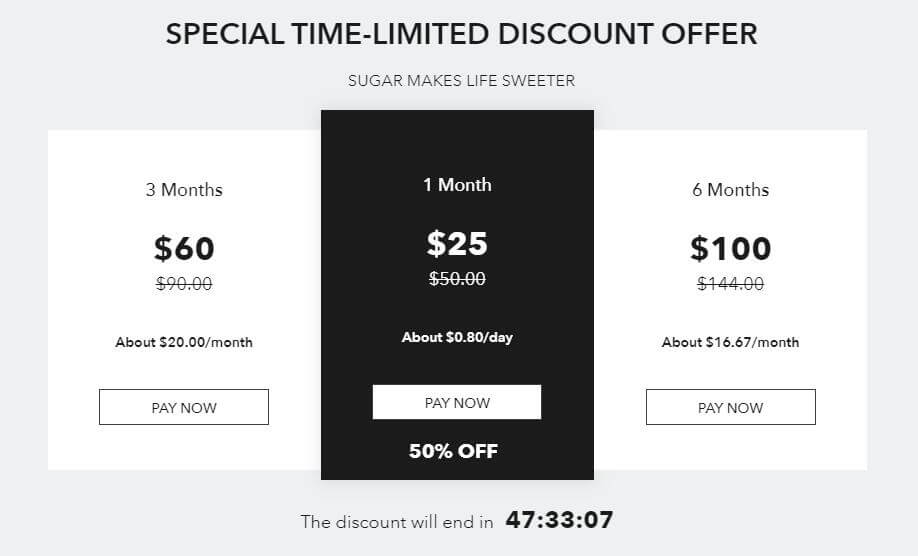 SugarDaddyMeet Discount for Sugar Baby